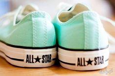 These are soooo pretty! I realllyyy want them! MINT GREEN CONVERSE #allstars