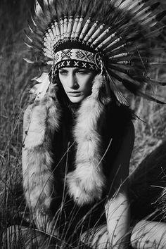 Indian girl, fashion editorial, model,  MUA, makeup, native,  Karolina Kotkiewicz Photography