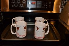 Reindeer Thumbprint Coffee Cup - dollar store craft