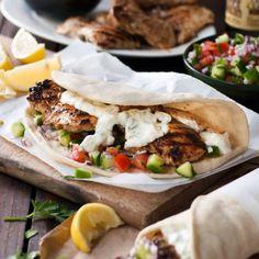Greek Chicken Gyros with Tzatziki