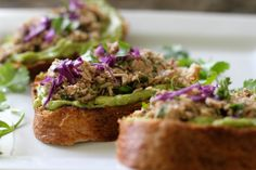 grew up with avocados in my open faced tuna sandwich with avocado ...