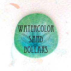#DIY watercolor sand dollars by makingmondays