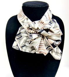 One of my ladies necktie scarves, this one from C. C. Casuals.