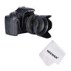 Neewer® 58mm Fleur Pare-soleil à Visser pour Canon EOS 700D 650D 600D 550D 500D 450D 400D 350D 300D 1100D 100D 60D, Rebel (T5i T4i T3i T3…