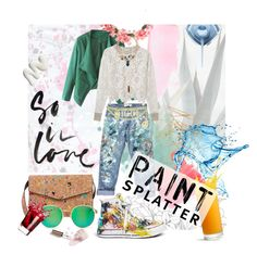 """""""Paint Splatters."""" by agnieszka-kufel ❤ liked on Polyvore featuring Levi's, 7 Chi, Rialto Jean Project, WithChic, Ralph Lauren, Wildfox, Moschino, See by Chloé, ASOS and Miss Selfridge"""