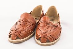 Mexican Huarache Sandals - Women's Colonial Style Brown