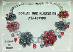 .Decorate tu misma.: Collar con flores de abalorios paso a paso. DIY