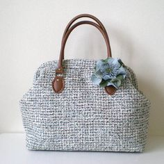 Tweed Boston bag for Spring and Summer with a by tagodesign, $89.90