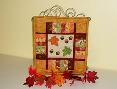 Autumn Quilt Mini Table Top Fall Wall by NeedlesnPinsStichery, $20.00