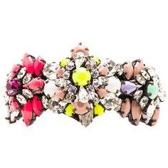Shourouk Rainbow Cuff ($300) ❤ liked on Polyvore featuring jewelry, bracelets, accessories, swarovski crystal jewelry, shourouk, cuff jewelry, cuff bangle and shourouk jewelry
