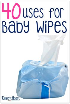 Ever wonder what you could use baby wipes for, other than for babies? They are one of the most affordable items at the store you can find, and they can cross over for so many different uses! Come on over and check out 40 Uses for Baby Wipes!   adiligentheart.com
