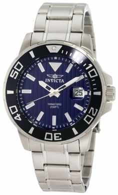 Invicta Men's 1418 Invicta II Blue Dial Stainless Steel Watch Invicta. $109.00. Blue Dial with Silver Tone Hands and Hour Markers; Luminous; Blue Unidirectional Stainless Steel Bezel; Magnified Date Window. Flame Fusion Crystal; Brushed Stainless Steel Case and Bracelet. Date Function. Water-resistant to 330 feet (100 M). Swiss Quartz Movement