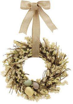 Wayfair Robin Easter Wreath #ad #springwreath #doordecor #springdecor #eastereggwreath