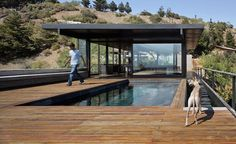 L shaped pool with timber decking - ideal for remote areas or semi rustic and eco !