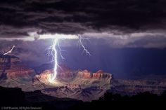 The Grand Canyon Lightning Show by Rolf Maeder | Rolf Maeder Photography