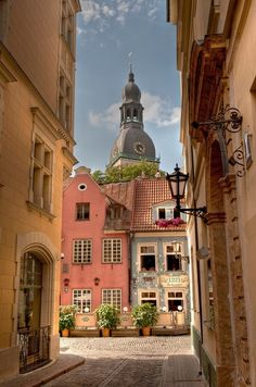 Beautiful Village in Riga, Latvia