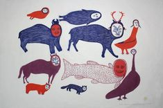 ANIMALS DISGUISING AS PEOPLE, 1975  Marion Tuu'luq