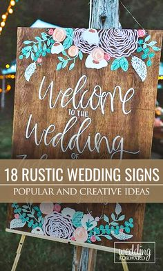 Most Popular Rustic Wedding Signs Ideas ❤ Great DYI friendly ideas for beautiful rustic wedding signs. See more: http://www.weddingforward.com/rustic-wedding-signs/ #weddings #rustic Photo: Michelle Lyerly http://www.michellelyerly.com/