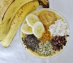 Indulge in this Epic Banana Cream Pie Smoothie Bowl! (Superfood Recipe) // In need of a detox? Get your teatox on with 10% off using our discount code 'PINTEREST10' at www.skinnymetea.com