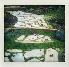 Use broken concrete for garden path Concrete Patios, Backyard Playground, Playground Ideas, Outdoor Life, Outdoor Decor, Outdoor Ideas, Broken Concrete, Take Out Containers, Garden Paths