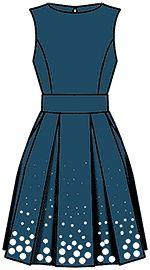 """Ejemplos de modelos de vestidos (2) se basa en la calculada en el """"cortador"""""""