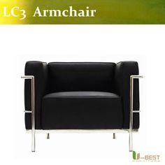 u best de haute qualite le corbusier lc3 fauteuil acier inoxydable fauteuil en cuir