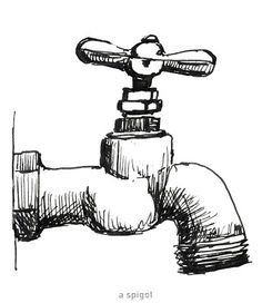 642 Things to Draw 33 - A Spigot - Pen and Ink by Ana Tirolese ©2012