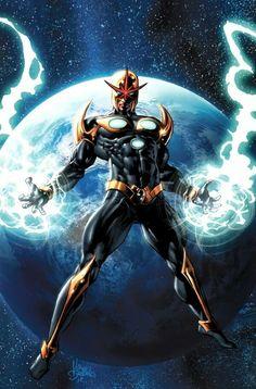 Nova by Mike Deodato Jr (Marvel comics) Marvel Vs, Quasar Marvel, Sentry Marvel, Marvel Comics Art, Marvel Heroes, Captain Marvel, Rogue Comics, Marvel Comic Character, Comic Book Characters
