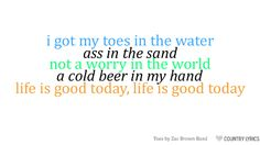 Toes, Zac Brown Band