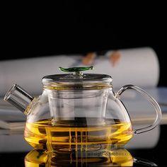Теплоизоляционный ясно стеклянный чайник цветок чайник с крышкой и фильтр 300 мл(China (Mainland))
