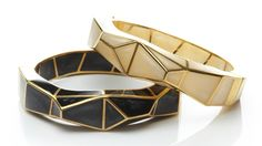 In love with these Andrew Hamilton Crawford prism bangles! But I would have to have BOTH!