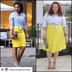 Have you checked out La Pecosa Preciosa new monthly feature #PlusSizeRemix we are obsessed! Her inspiration comes from the adorable Color Me Courtney! Shop the Makena Pleated Midi Skirt $28.90 from FTF