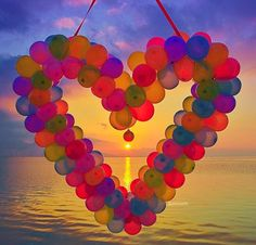 Photo Edit: ✨DeluxeFX✨ app --- Photo by 👉 - check her awesome feed out. Heart In Nature, I Love Heart, Key To My Heart, Happy Heart, Heart Art, Big Balloons, Colourful Balloons, Happy Birthday Images, Happy B Day