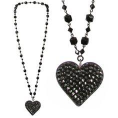 """Tarina Tarantino - Black Dahlia """"Lilura"""" Heart Necklace  ♥"""