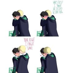 The Scorbus Ending I Wanted by Emolise on DeviantArt Harry Potter Cursed Child, Harry Potter Comics, Cute Harry Potter, Harry Potter Wizard, Harry Potter Artwork, Harry Potter Feels, Harry Potter Draco Malfoy, Harry Potter Anime, Harry Potter Jokes