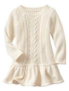 Cable knit dress | Gap