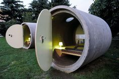 Sleepaway in a Sewer Pipe at Dasparkhotels