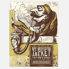 My Morning Jacket Raleigh 18x24, $23, now featured on Fab.