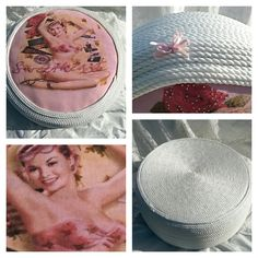 vintage - romantic poef gemaakt van oude autoband. Meer poefjes en recycle- upcycle- restyling www.bontevink.nl pouf made from old tire - romantic - 50ties - retro - shabby chic