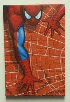 Spiderman fabric boys bedroom WALL ART decor by TyneBlinds on Etsy