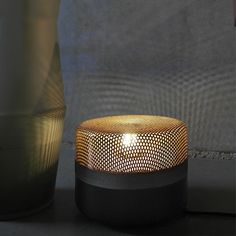 Lampe a poser steel drop small noir cuivre o20cm pulpo normal
