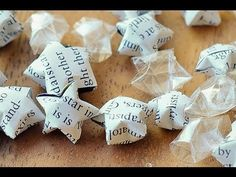 How to fold an origami star *It's a cute idea for party favor boxes to fill with candy...