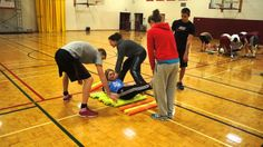 Race another team by rolling one of your teammate on top of pool noodles across a designated space.  https://ciraontario.com/resources/books/oodles-of-noodles