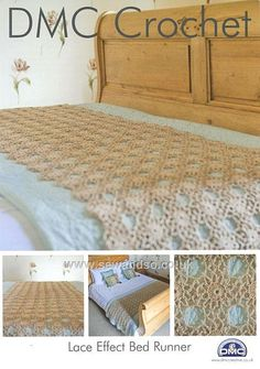 Crochet runner bed throw multicolour throw bed scarf bed throw buy lace bed runner crochet pattern online at sewandso dt1010fo