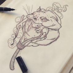 Best Picture For Rodents control For Your Taste You are looking for something, and it is going to tell you exactly what you are looking for, and you didn't find that Tattoo Sketches, Tattoo Drawings, Body Art Tattoos, Rite De Passage, Rat Tattoo, Creepy Tattoos, Fu Dog, Mouse Tattoos, Tattoo Motive