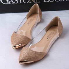 Free drop shipping girls fashion pointed toe metal toe flats women shoes woman casual Ladies 2013 spring news glitter on AliExpress.com. 10% off $14.85