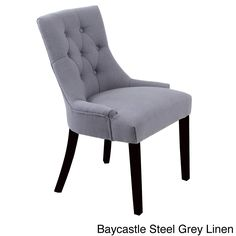 Monsoon Baycastle Button-tufted Dining Chairs (Set of 2) (Baycastle Steel Grey Linen Chairs (Set of 2)) (Faux Leather)