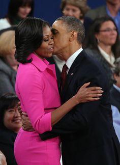 Barack Obama and Michelle Obama after Second Presidential Debate