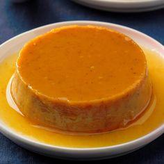 Pumpkin Flan, Canned Pumpkin, Pumpkin Recipes, Pumpkin Spice, Spiced Pumpkin, Pumpkin Ideas, Pumpkin Dessert, Taste Of Home, Flan Dessert