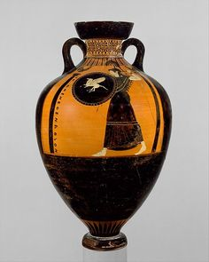 Attributed to the Kleophrades Painter | Terracotta Panathenaic prize amphora | Greek, Attic | Archaic | The Met